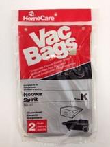 Vac Bags Hoover Spirit Type K No.57 2 Bags Sealed Vacuum Cleaner Bags - $7.83