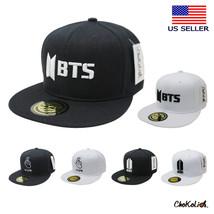 682cea8f4696 Flat Visor BTS Bangtan Boys Fan Premium Snapback Hat Baseball Cap - $16.14