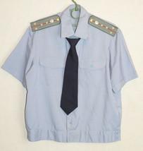 Soviet Militia Officer Captain Summer Uniform Shirt Tie Russian Vintage ... - $14.85