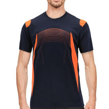 Men's Gym Workout Sport Two Tone Running Performance Quick-Dry T-shirt image 14