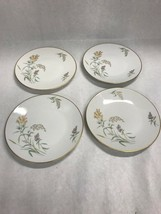 Rosenthal Sommerbluten Summer Blossoms Salad Dessert Plate Set of 4 gold... - $39.59