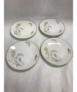 Rosenthal Sommerbluten Summer Blossoms Salad Dessert Plate Set of 4 gold... - $39.59