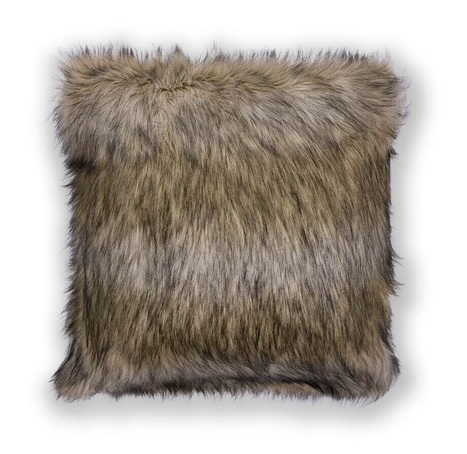 "Primary image for Brown Faux Fur Pillow 20"" x 20"" Pillow w/Hidden Zipper"