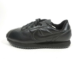 NIB NIKE CLASSIC CORTEZ RIPPLE (BG) BOY'S CASUAL SHOES LEATHER BLACK 609... - $49.99