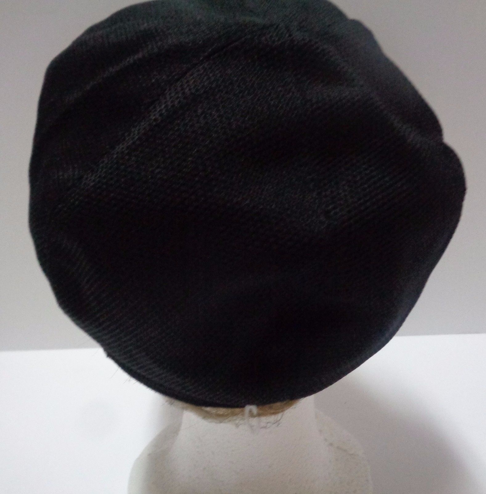 SHYC FASHION Yacht Cap Hat Black NEW Adult SZ Butterfly & Bow Accent