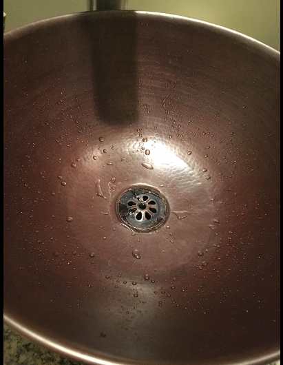 """14"""" Round Hand Hammered Copper Vessel Countertop Vanity Sink FREE SHIPPING!"""
