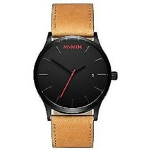 NEW MVMT Fashion Brown Leather Men's Military Sport Quartz Wrist Watch High copy - $30.69
