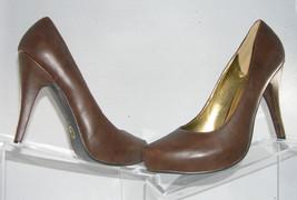 G by Guess 'Belanova' brown stitched tip casual pump women heel platform shoe 9M - $9.49