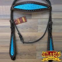 Hilason Western Horse Headstall Bridle American Leather Crocodile U-C-HS - $73.25