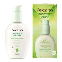 Aveeno Positively Radiant Daily Face Moisturizer SPF 15, 4 - $25.04