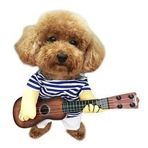 NACOCO Pet Guitar Costume Dog Costumes Cat Halloween Christmas Cosplay P... - €15,14 EUR