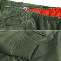 MJC USA Men's Long Oversized Curved Hem Parka Streetwear Bomber Jacket - XL image 6