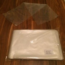"Lot 400 10""x30"" Clear Poly Bags 2mil NEW Flat Open End Plastic Fish Bags... - $49.49"