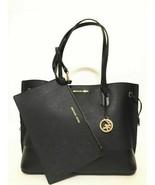 Michael Kors Trista Large Drawstring Tote Leather Bag Black NWT - $108.89