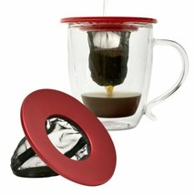 Single Serve Coffee Brew Small Cup Fine Mesh Filter Portable Travel Kit NEW