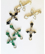 jesus christ charms enamel Cross pendants crucifix 6 piece 18mmx30m reli... - $2.99