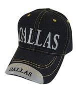 Dallas Adult Size Denim Adjustable Baseball Cap (Black) - $12.95