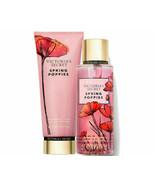 Victoria Secret Spring Poppies Lotion & Fragrance Mist Set NEW - $44.54