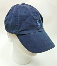 Polo Ralph Lauren Hat Leather Adjustable Strap Pony Embroidered Vintage ... - $32.66