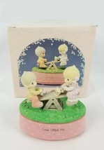 "Precious Moments 1989 ""Love Lifted Me"" 572683 Playground Musical Figurin... - $29.09"