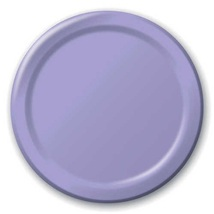 "24 Plates 10"" Paper Dinner Lunch Plates Wax Coated - Lavender - $8.66"