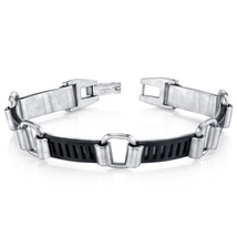 Mens Urban Class Matte Finish Stainless Steel Bracelet - $68.99