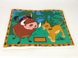 "Vintage 90's Disney Lion King Simba Timon Pumba Soft Plastic Table 17"" P... - $10.84"