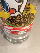 Vintage 1965 Peanuts Snoopy and Woodstock Collectible Glass image 6