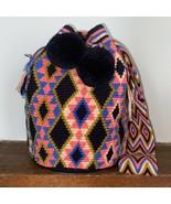 Authentic 100% Wayuu Mochila Colombian Bag Large Size Gorgeous Colors pl... - $86.00