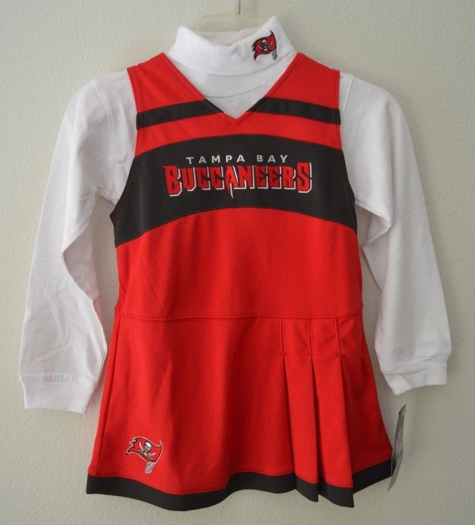 Primary image for NFL Team Apparel Girls Toddler Tampa Bay Buccaneers Red Cheer Jumper Dress