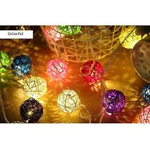 E Support 2 Pack Globe Rattan Ball String Lights 20 LED Battery Powered Fairy Ou - $12.46