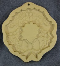 Brown Bag Cookie Art Holly Wreath Mold Hill Design 1988 Christmas - $21.95