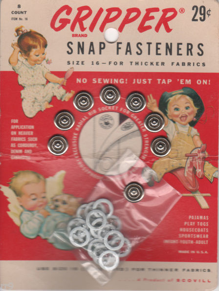 Primary image for GRIPPER Snap Fasteners Size 16 for Thicker Fabric 8 Count