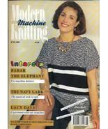 Modern Machine Knitting Jun 1993 Magazine Intarsia BABAR the Elephant & Cat - $19.99