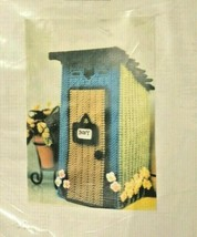 Heartland Stitches Country Outhouse Bath Air Freshner Cover Plastic Canv... - $45.00