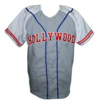 Hollywood Stars Retro Baseball Jersey 1950 Button Down Grey/White Any Size image 4