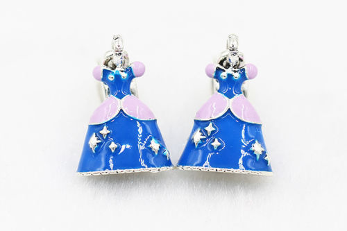 S925 Sterling Silver Disney Cinderella Dress Charm G 1
