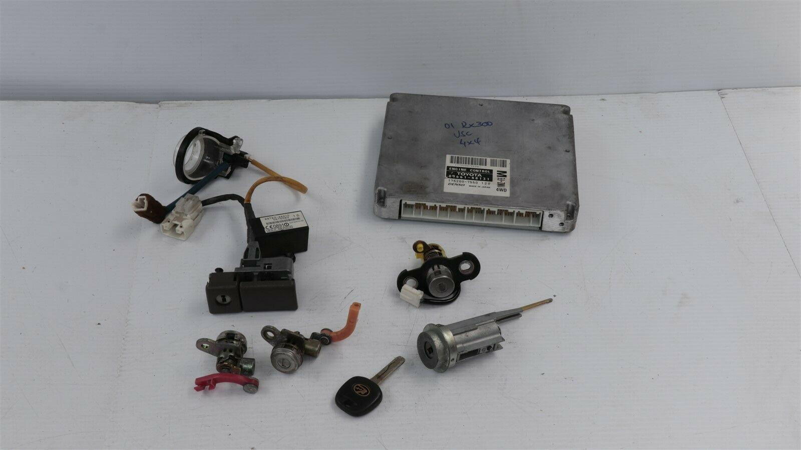 2003 Lexus RX330 4wd ECU Immo Ignition Door Trunk Glovebox Lock Fob Combo Set