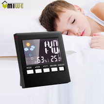 Digital Weather Alarm Clock LCD Screen Temperature Humidity Clock Snooze - €15,24 EUR