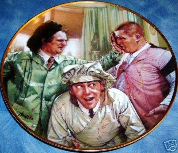 3 Stooges Collectible Plate - $25.00