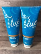 Lot Of 2-Bath & Body Works True Blue Spa Lay It On Thick Shea Butter Body Cream - $47.41