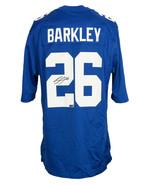 Saquon Barkley Signed New York Giants Blue Nike Game Replica Jersey Panini - $494.99
