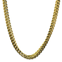 18K Gold Plated Franco Box Cuban Chain 8mm Stainless Steel - $44.54