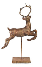 A&B Home Large Bronze Reindeer On Stand statue  - $129.99