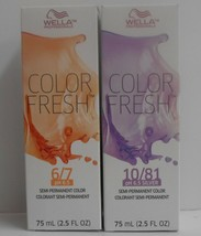 Wella Color Fresh P H 6.5 Semi-Permanent Creative Liquid Hair Color~ 2.5 Oz - $9.64+