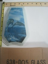 FREE US SHIP OK Touch Lamp Replacement Glass Panel Dolphins Jumping 638-DO5 - $9.75