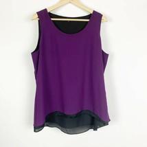 Violet & Claire Purple Layered Sleeveless Tank Top Womens Size Medium Bl... - $10.65