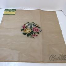 "Pre-Worked Floral Needlepoint Canvas Bucilla 20"" x 20"" - $29.02"