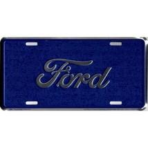 ford script logo blue auto car license plate made in usa - $28.49