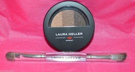 Laura Geller Baked Impressions Eyeshadow Palette - Espresso Yourself w/brush! - $10.79